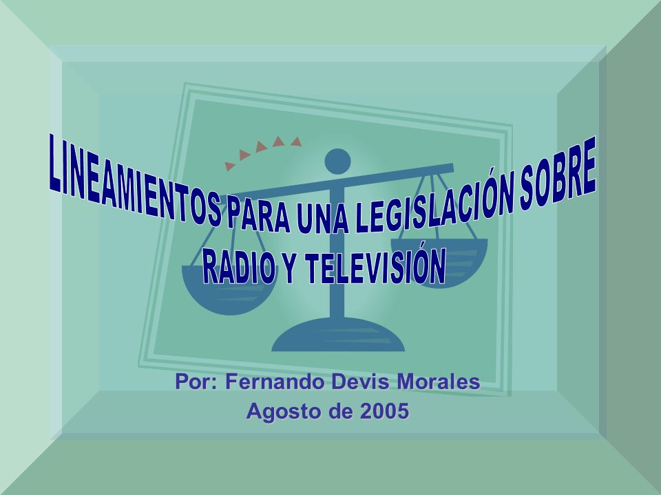 Por: Fernando Devis Morales Agosto de 2005