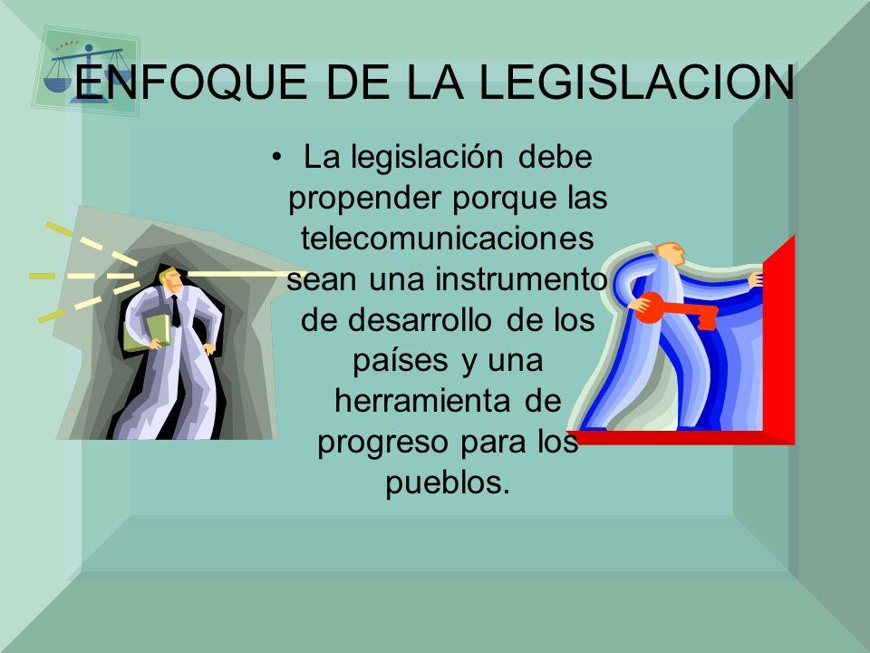 ENFOQUE DE LA LEGISLACION