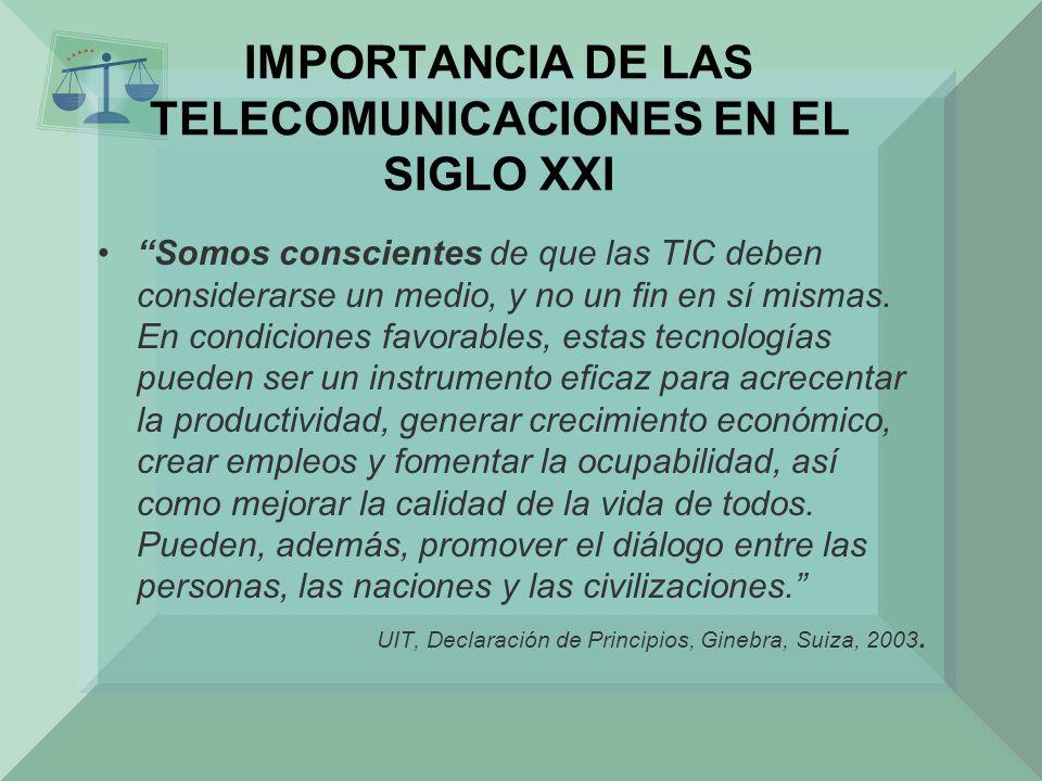 IMPORTANCIA DE LAS TELECOMUNICACIONES EN EL SIGLO XXI