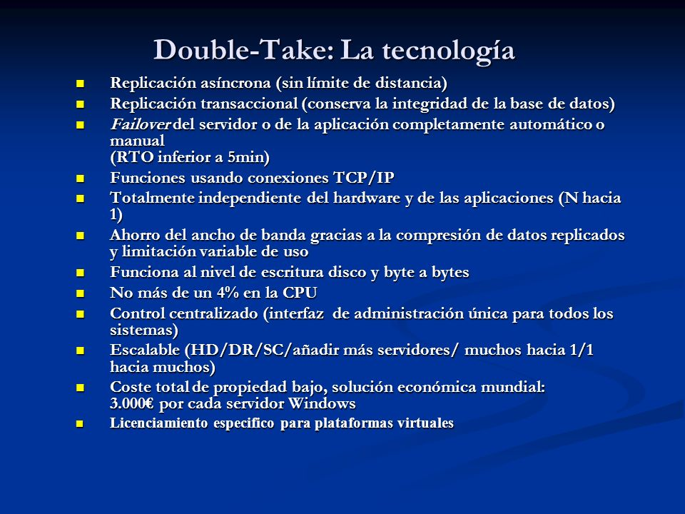 Double-Take: La tecnología