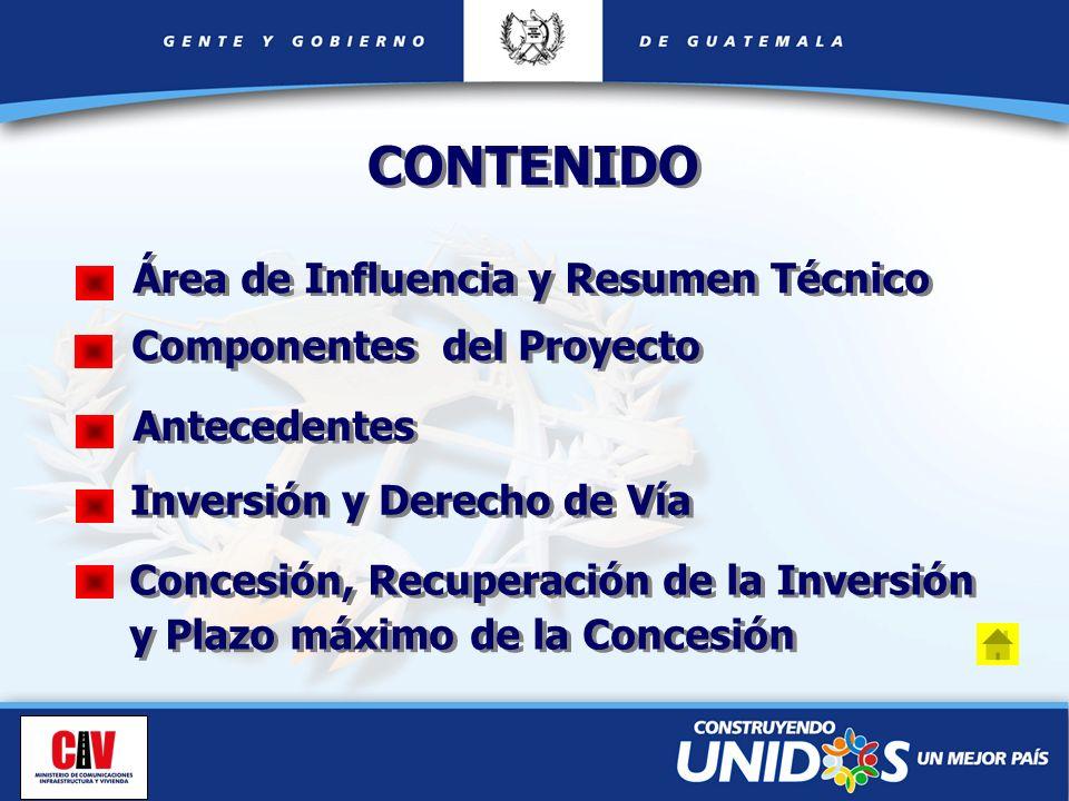 CONTENIDO Área de Influencia y Resumen Técnico