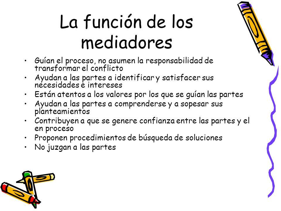 La función de los mediadores