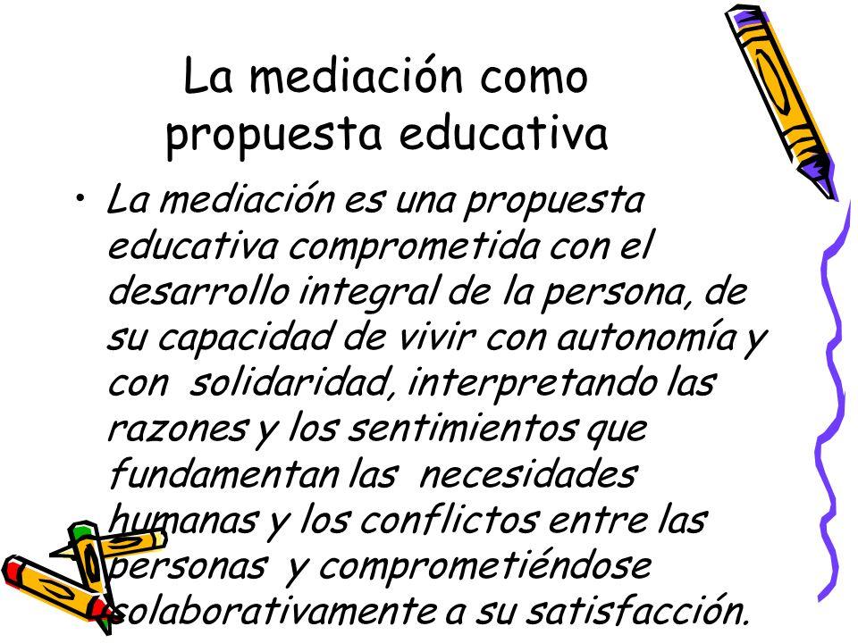 La mediación como propuesta educativa