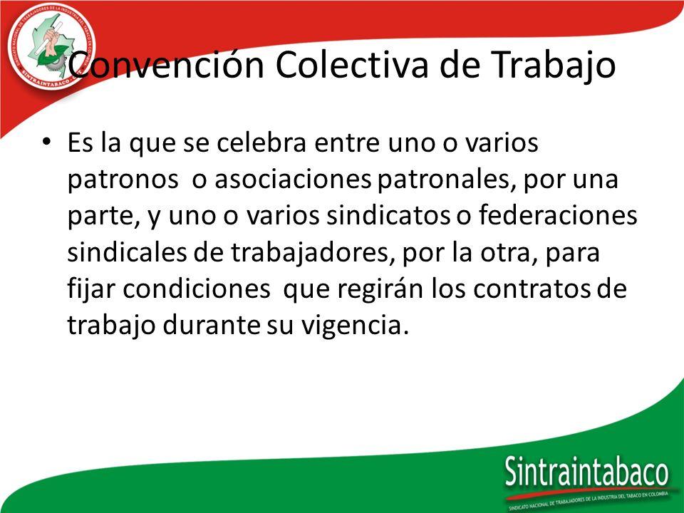 Convención Colectiva de Trabajo
