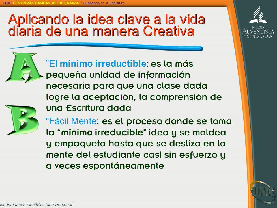 Aplicando la idea clave a la vida diaria de una manera Creativa