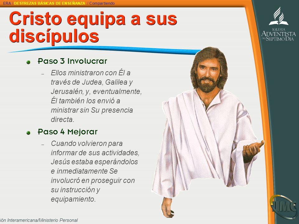 Cristo equipa a sus discípulos