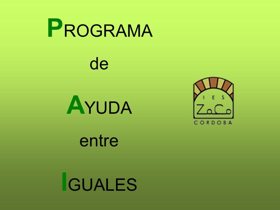 PROGRAMA de AYUDA entre IGUALES