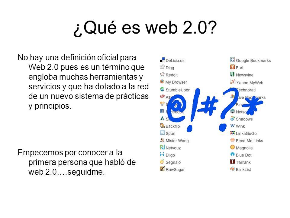 ¿Qué es web 2.0