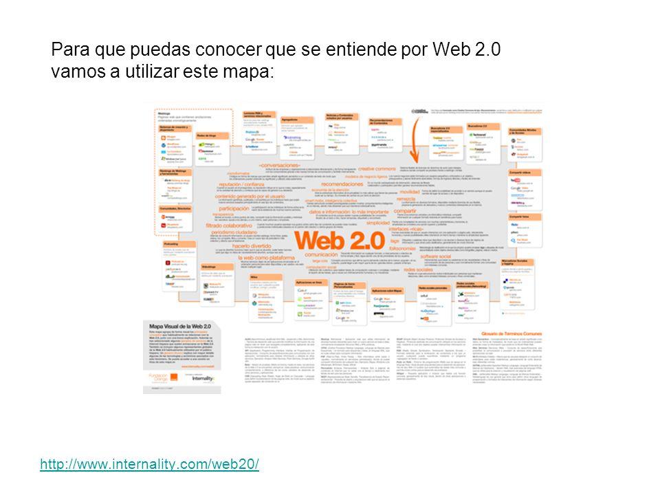 Para que puedas conocer que se entiende por Web 2