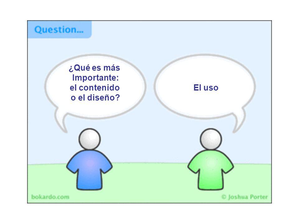 ¿Qué es más Importante: el contenido o el diseño El uso