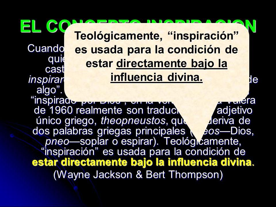 EL CONCEPTO INSPIRACION
