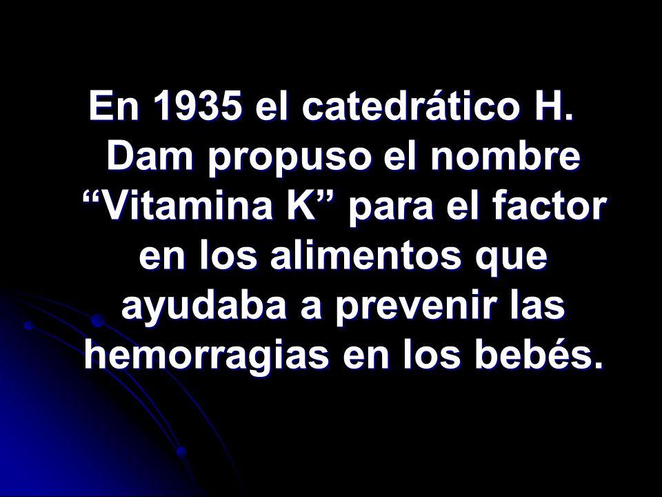 En 1935 el catedrático H.