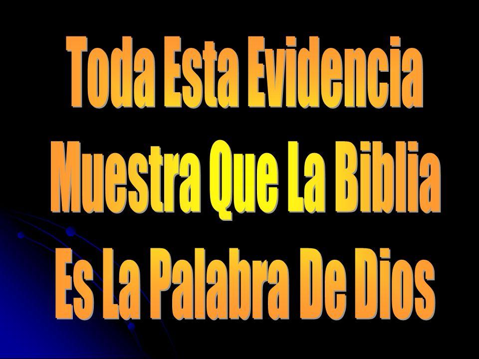 Toda Esta Evidencia Muestra Que La Biblia Es La Palabra De Dios