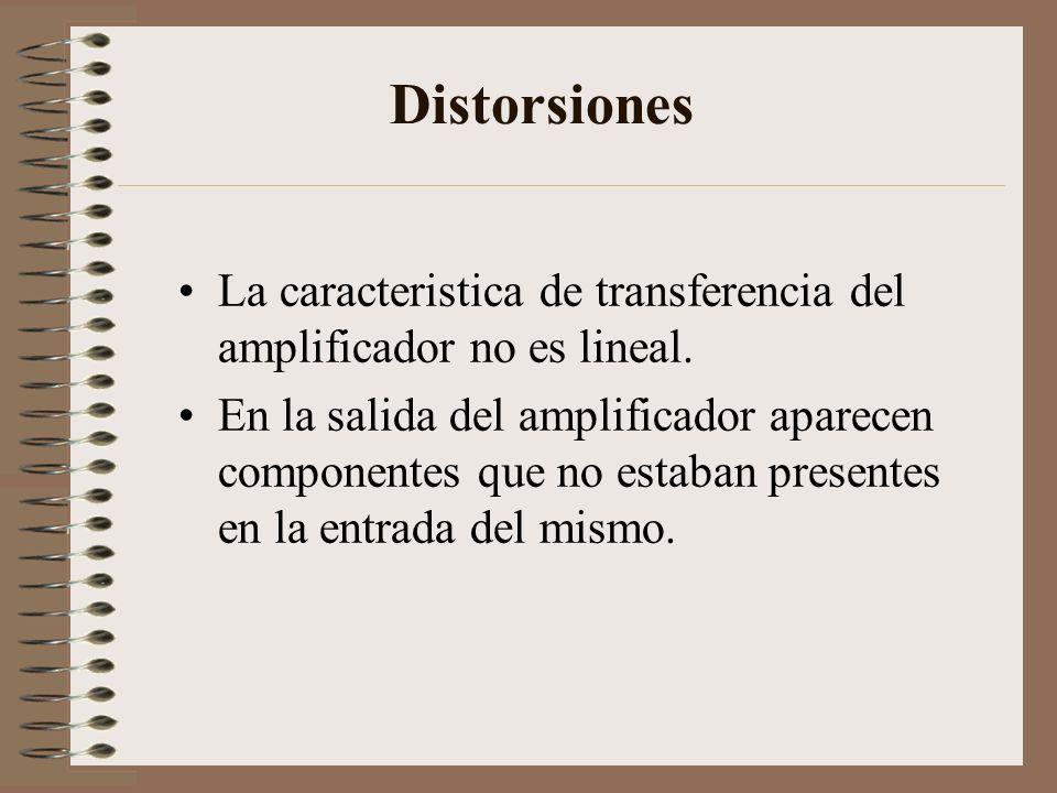 Distorsiones La caracteristica de transferencia del amplificador no es lineal.