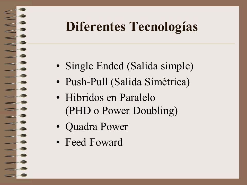 Diferentes Tecnologías