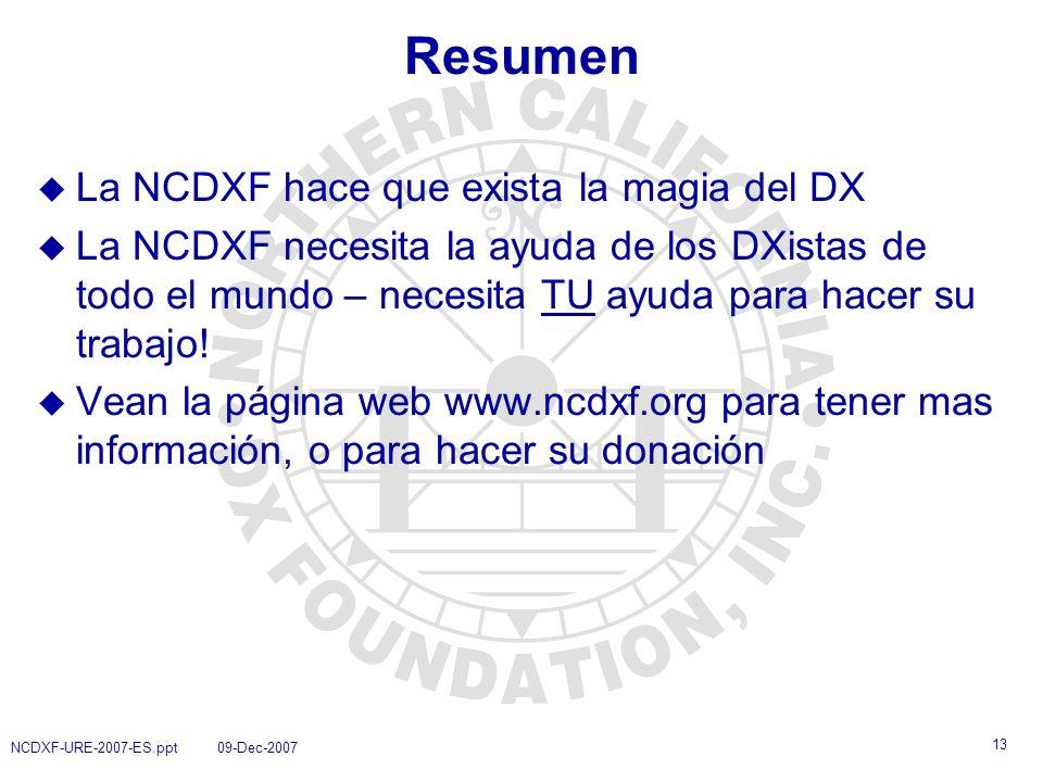 Resumen La NCDXF hace que exista la magia del DX