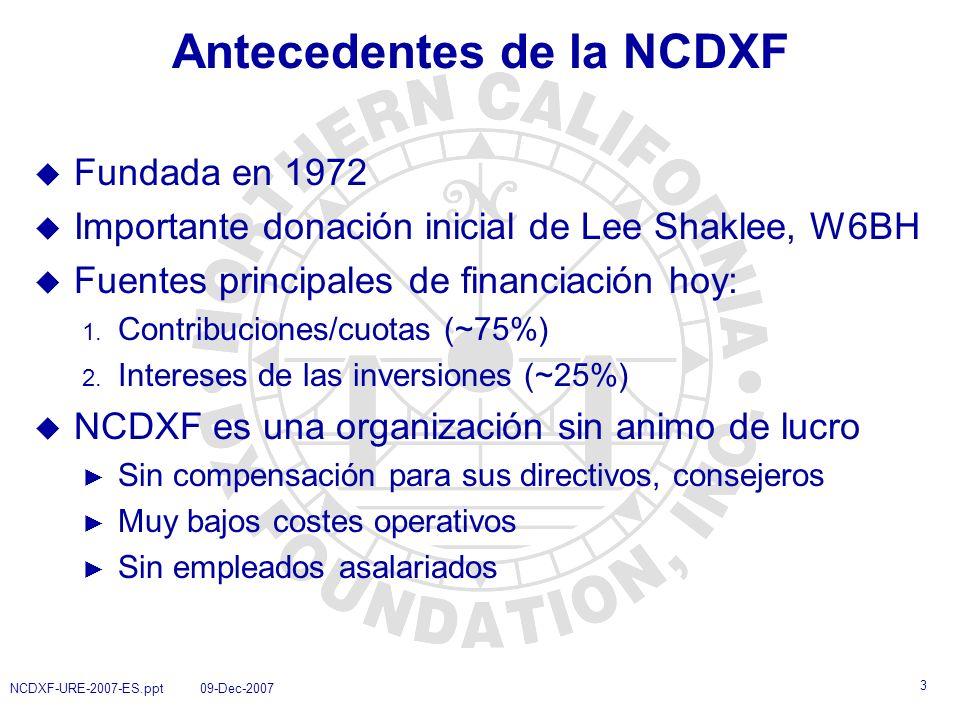 Antecedentes de la NCDXF