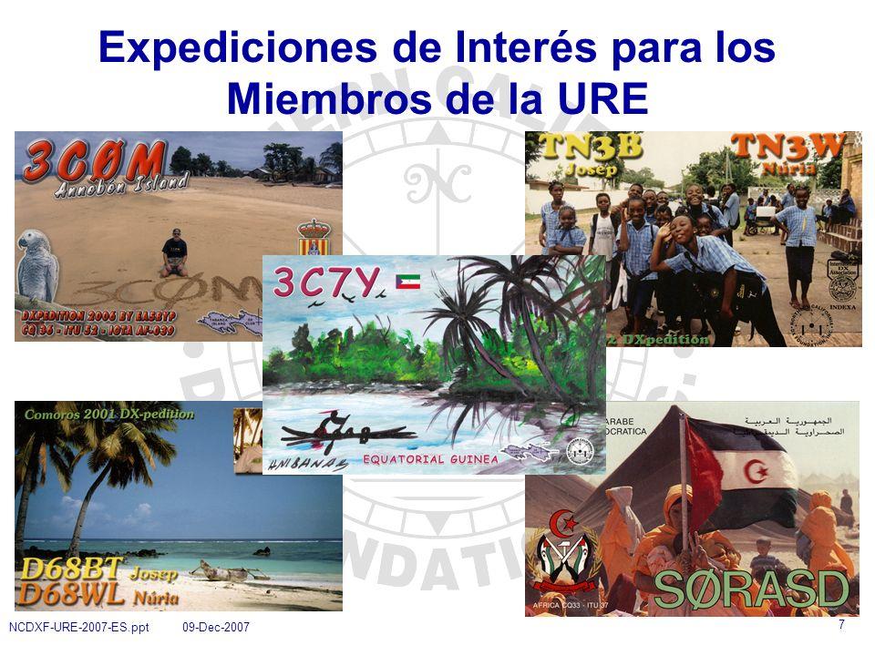 Expediciones de Interés para los Miembros de la URE