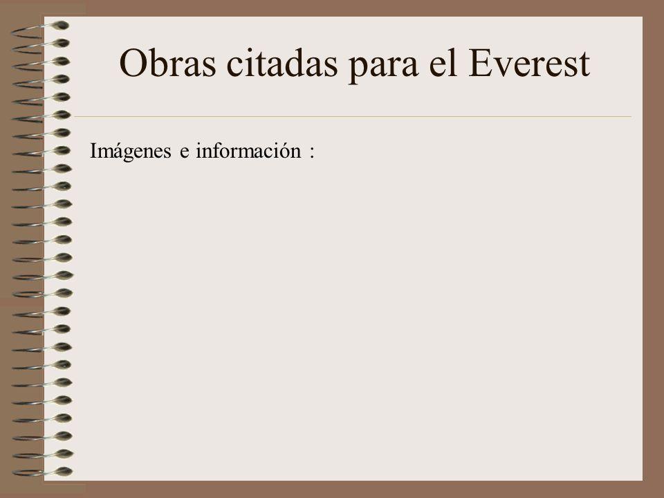 Obras citadas para el Everest