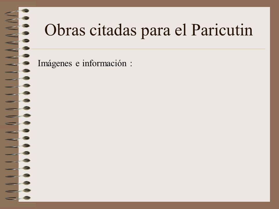Obras citadas para el Paricutin