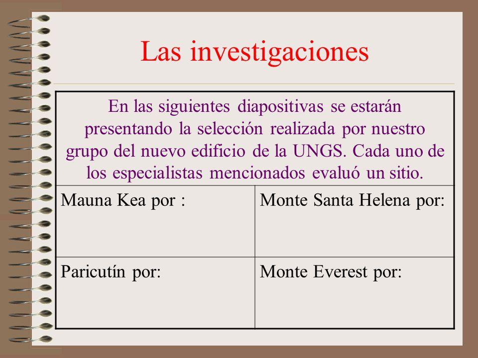Las investigaciones