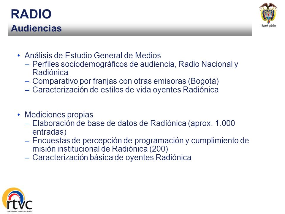 RADIO Audiencias Análisis de Estudio General de Medios