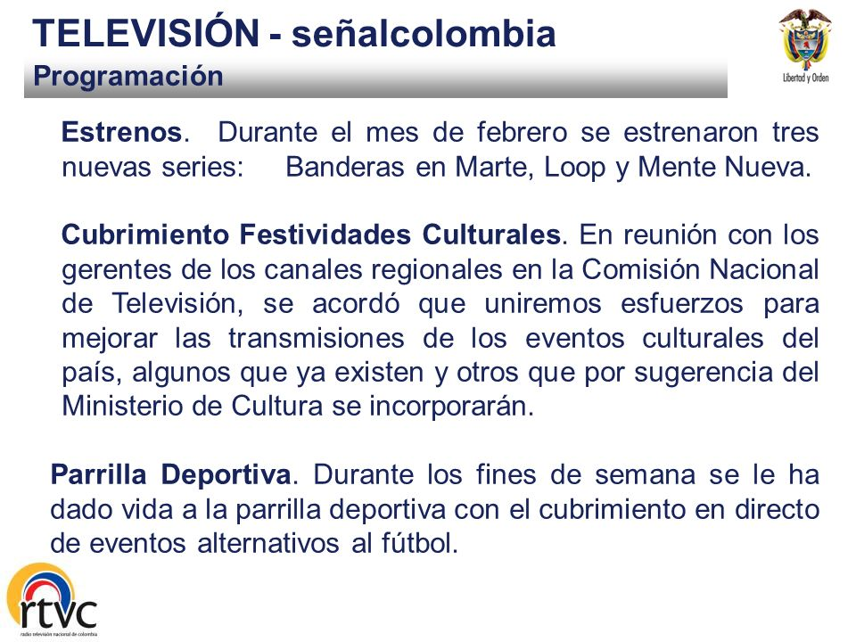 TELEVISIÓN - señalcolombia