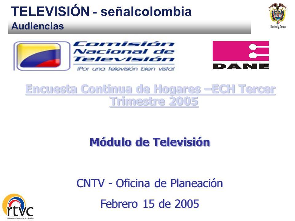 Encuesta Continua de Hogares –ECH Tercer Trimestre 2005