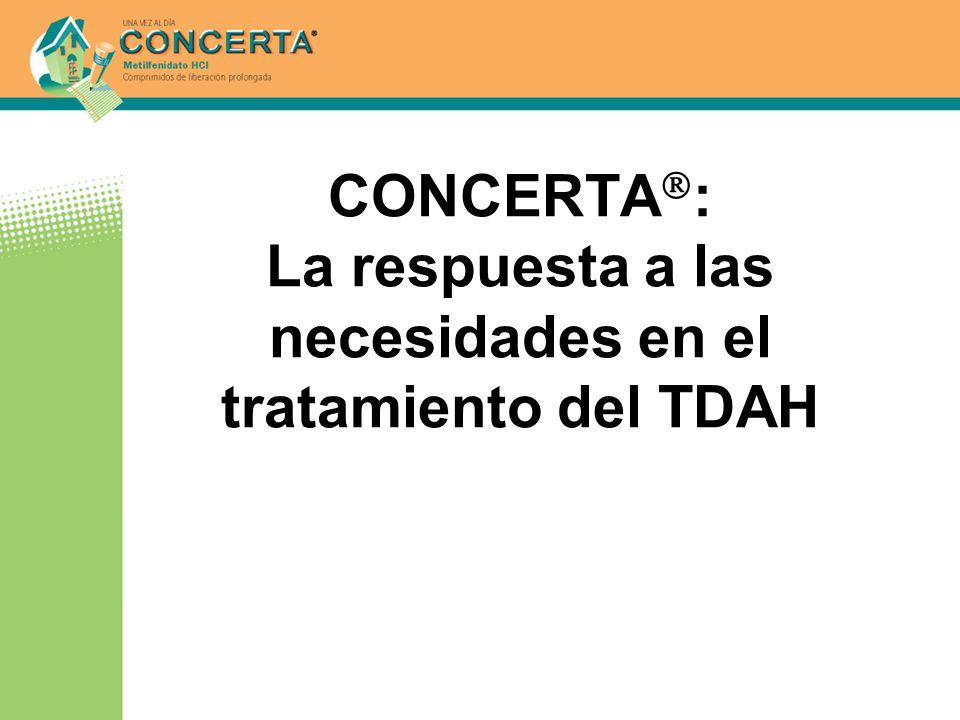 CONCERTA: La respuesta a las necesidades en el tratamiento del TDAH