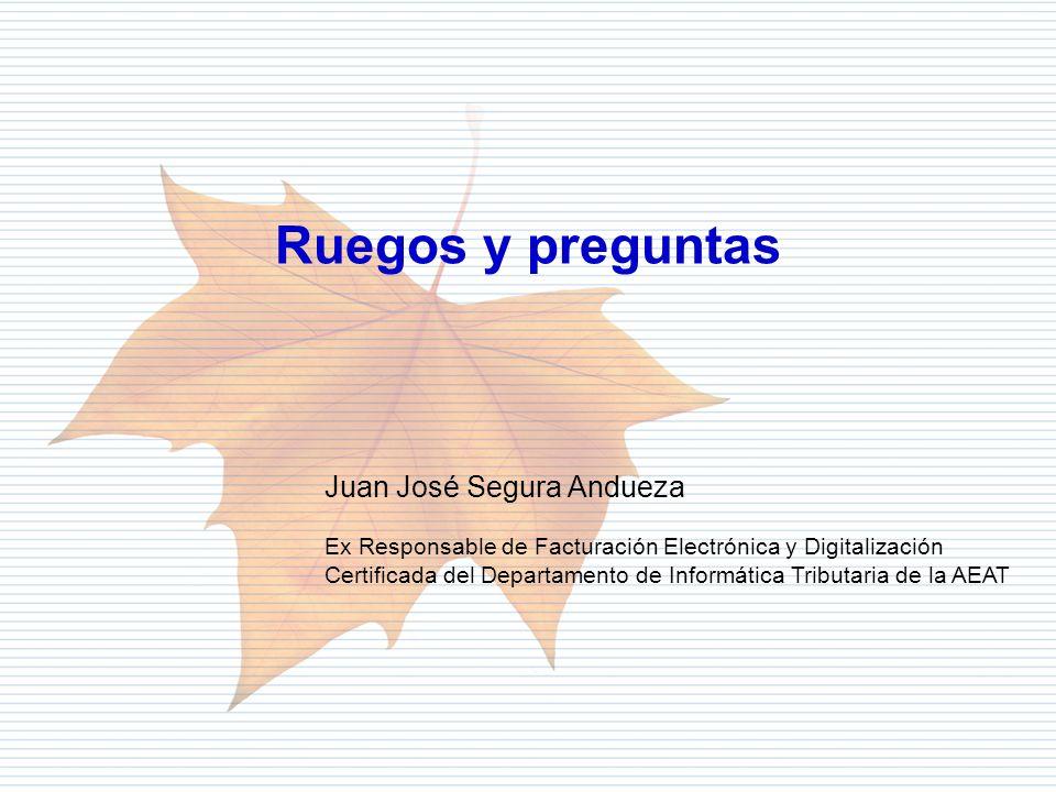 Ruegos y preguntas Juan José Segura Andueza