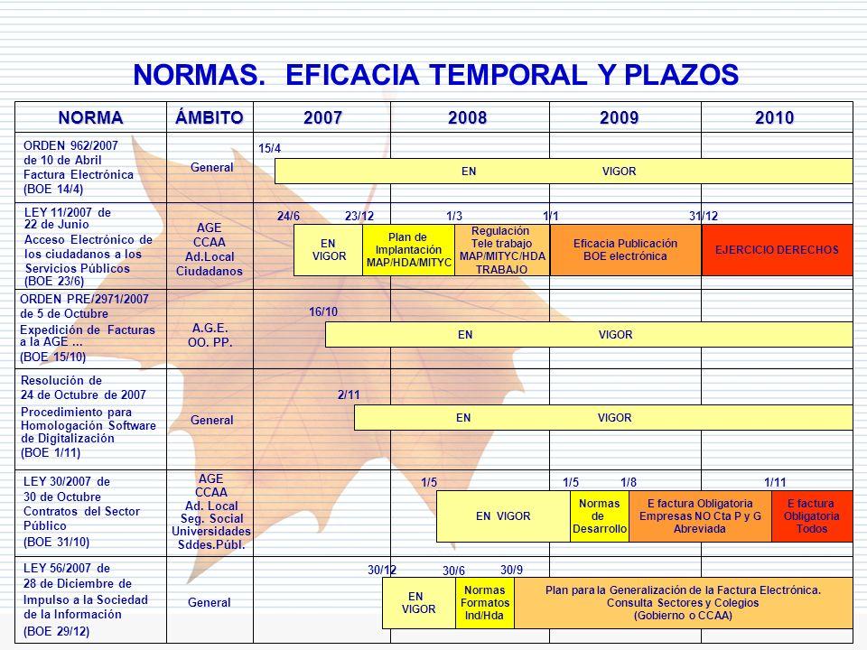 NORMAS. EFICACIA TEMPORAL Y PLAZOS