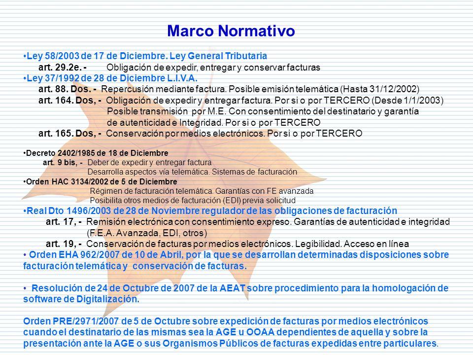 Marco Normativo Ley 58/2003 de 17 de Diciembre. Ley General Tributaria