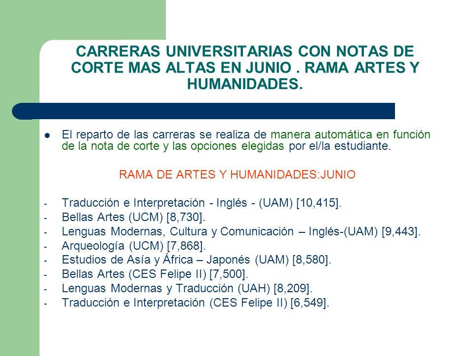 RAMA DE ARTES Y HUMANIDADES:JUNIO