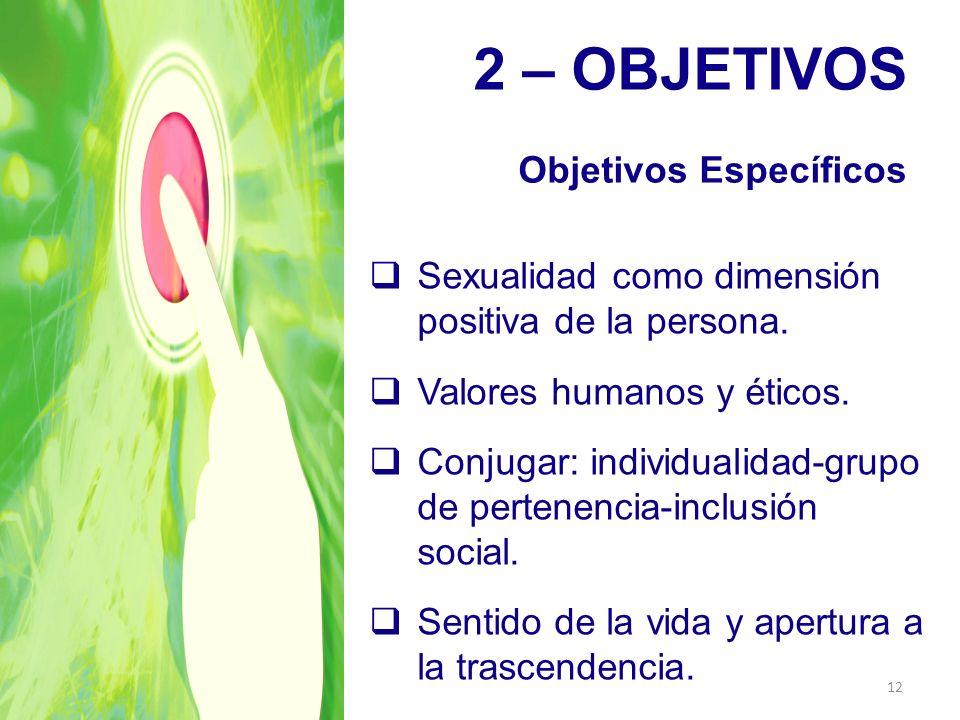 2 – OBJETIVOS Objetivos Específicos
