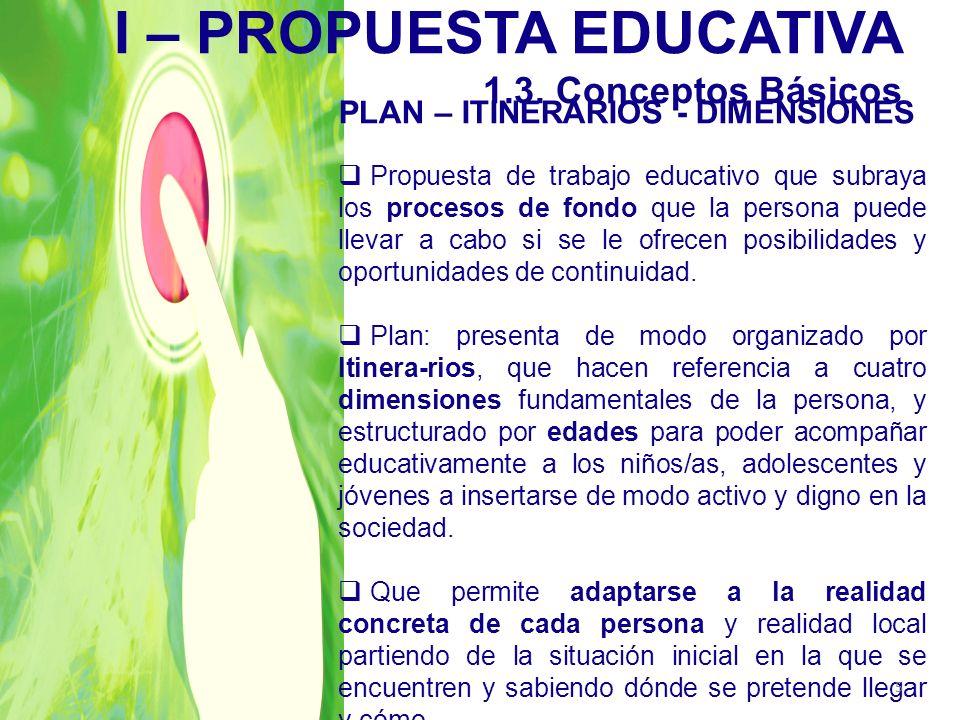 I – PROPUESTA EDUCATIVA 1.3. Conceptos Básicos
