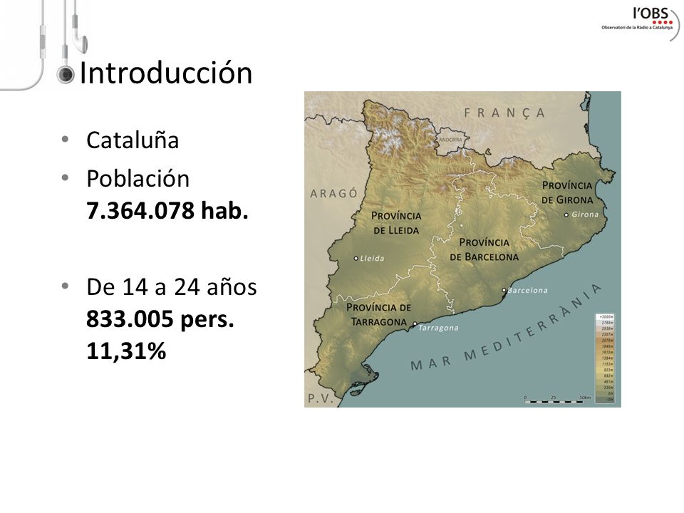 Introducción Cataluña Población 7.364.078 hab.