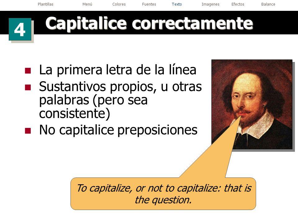 Capitalice correctamente