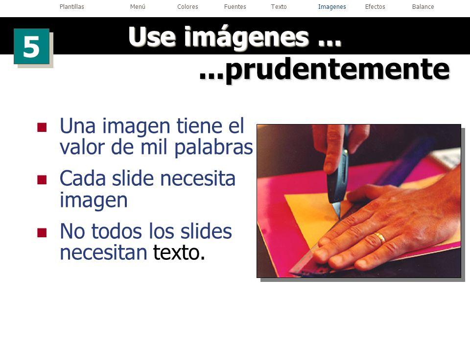 Plantillas Menú Colores Fuentes Texto Imagenes Efectos Balance