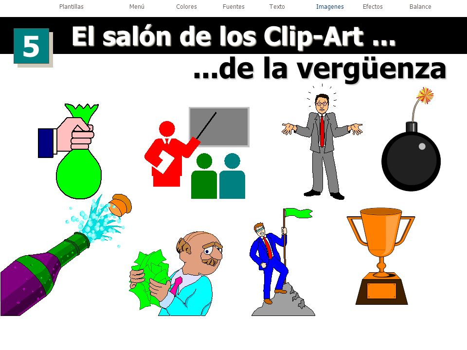 El salón de los Clip-Art ...