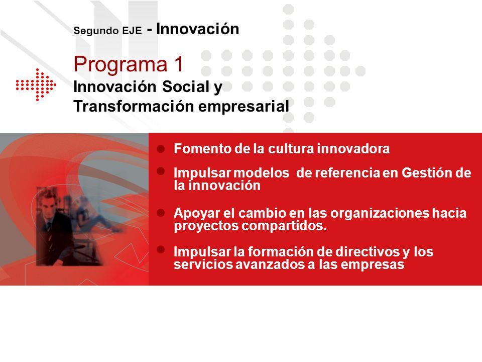 Programa 1 Innovación Social y Transformación empresarial
