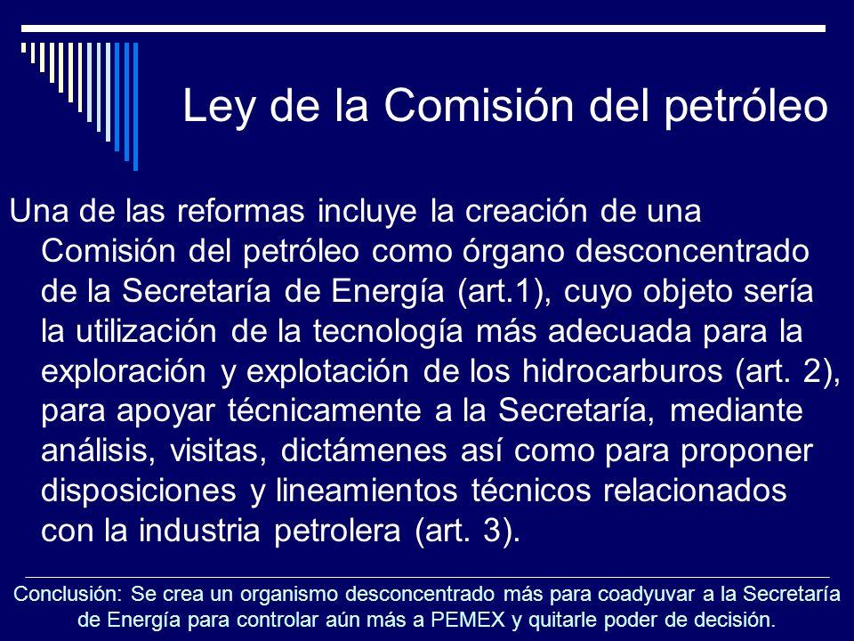 Ley de la Comisión del petróleo