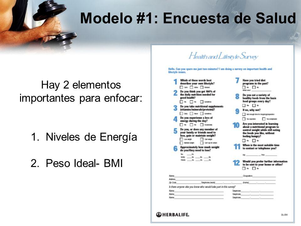 Modelo #1: Encuesta de Salud