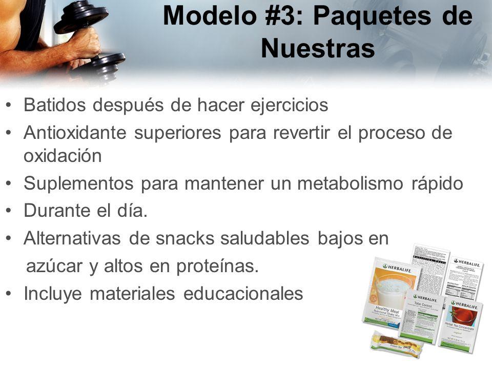 Modelo #3: Paquetes de Nuestras