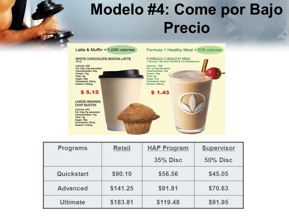 Modelo #4: Come por Bajo Precio