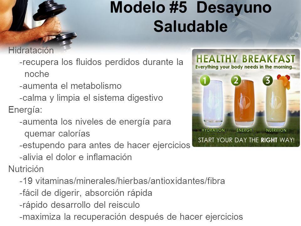 Modelo #5 Desayuno Saludable