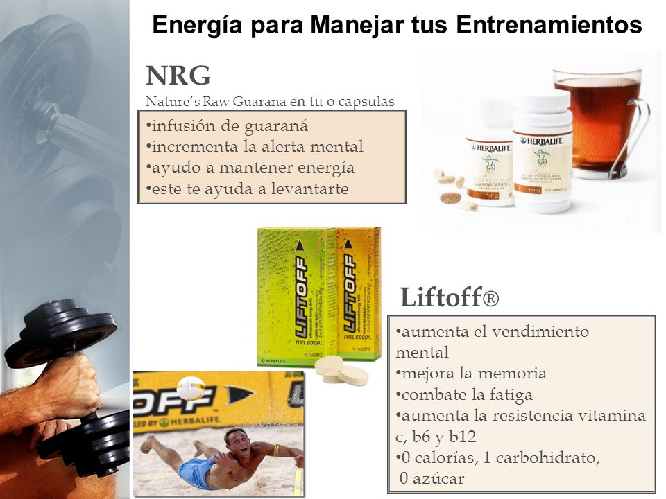 Energía para Manejar tus Entrenamientos The best products WORLDWIDE