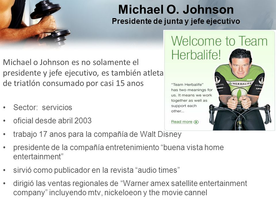 Michael O. Johnson Presidente de junta y jefe ejecutivo