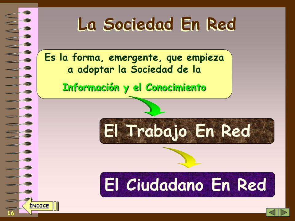 La Sociedad En Red El Trabajo En Red El Ciudadano En Red