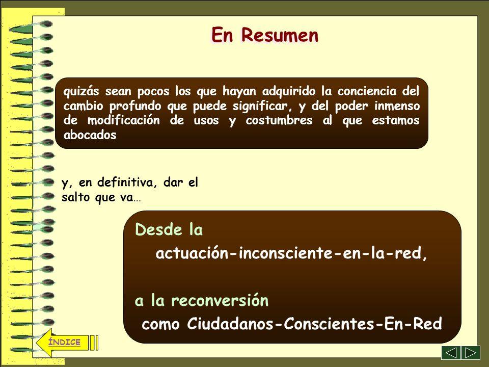 actuación-inconsciente-en-la-red, como Ciudadanos-Conscientes-En-Red