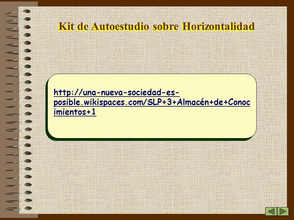 Kit de Autoestudio sobre Horizontalidad